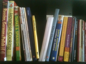 My Cookbook shelf (image by Ernest Barteldes)