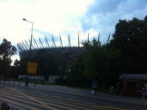 The National Stadium, built for the 2012 Eurocup